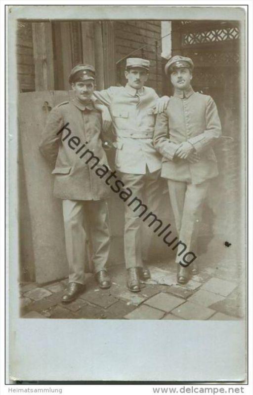 Drei Soldaten - Foto-AK - Nürnberg 1917