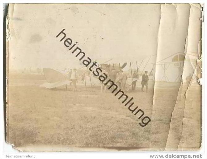 Hamburg - Flugzeug - Foto ca. 10,5 x 8 cm - 1913