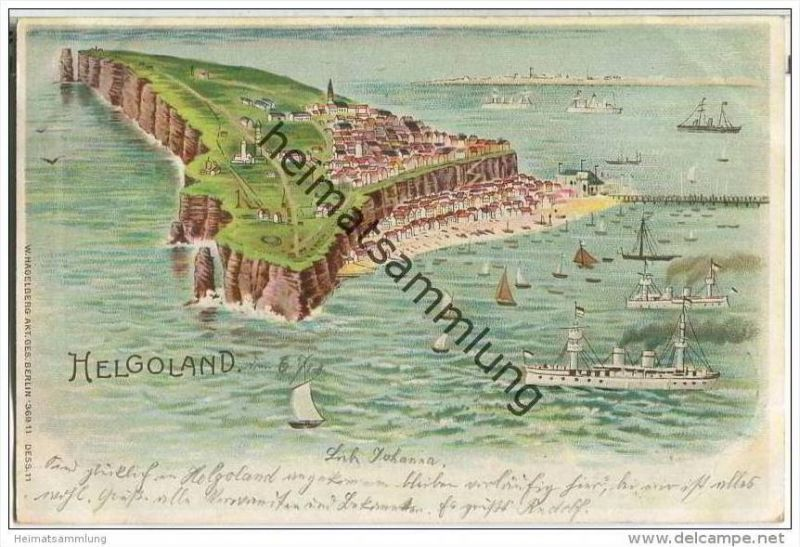 Helgoland - Farblithographie