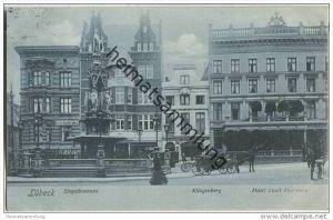 Lübeck - Siegesbrunnen - Klingenberg - Hotel Stadt Hamburg