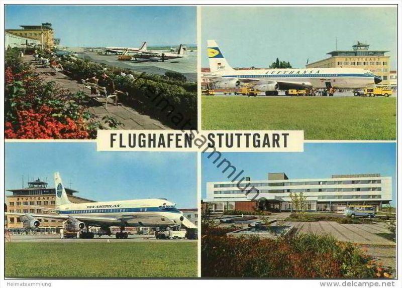 Stuttgart - Flughafen - AK Grossformat