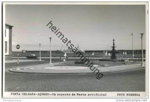 Ponta Delgada - Acores - Um aspecto do Porto Artificial - Foto-AK