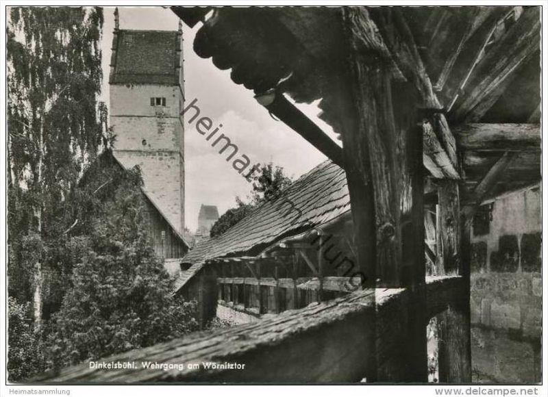 Dinkelsbühl - Wehrgang am Wörnitztor - Foto-AK Grossformat