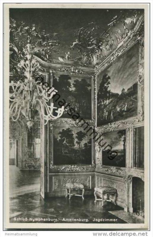 Schloss Nymphenburg - Amalienburg - Jagdzimmer - Foto-AK 20er Jahre