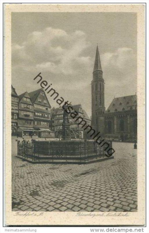 Frankfurt - Römerberg mit Nicolaikirche