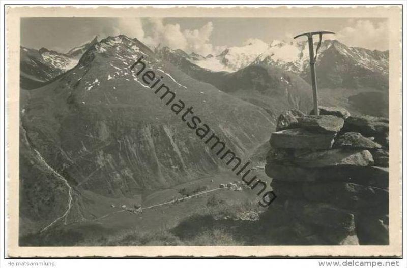 Blick von der Seenplatte auf Ober-Gurgl - Foto-AK