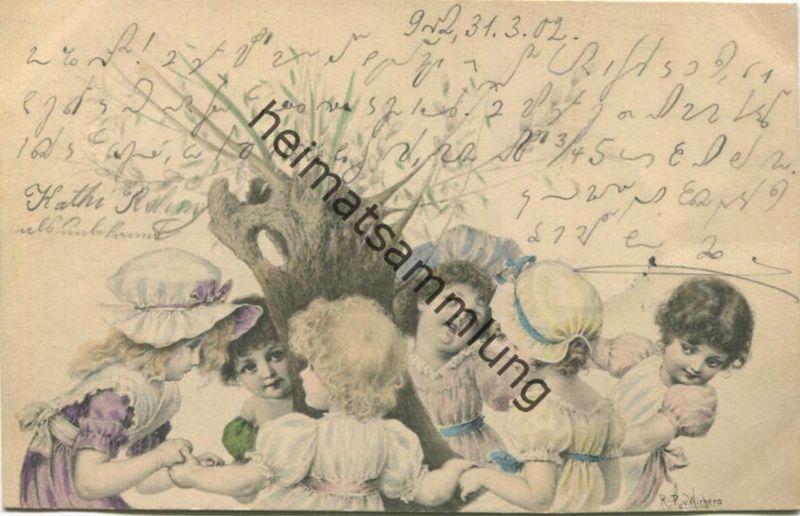 Kinder - signiert R. R. v. Wichera gel. 1902