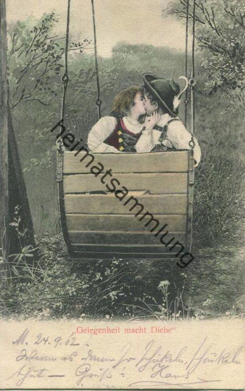Kinder in Tracht - Gelegenheit macht Diebe gel. 1902