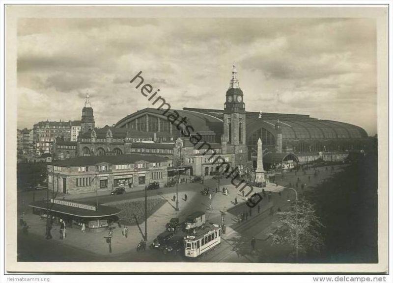 Hamburg - Hauptbahnhof -  Foto-AK Grossformat 30er Jahre