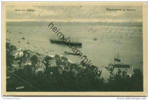 Hamburg-Blankenese - Blick vom Süllberg gel. 1909