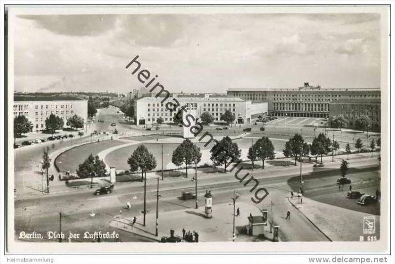 Berlin - Platz der Luftbrücke - Foto-AK - Luftaufnahme
