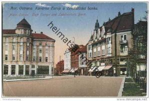 Mährisch Ostrau - Ostrava - Kavarna Europ a Zemedelska banka