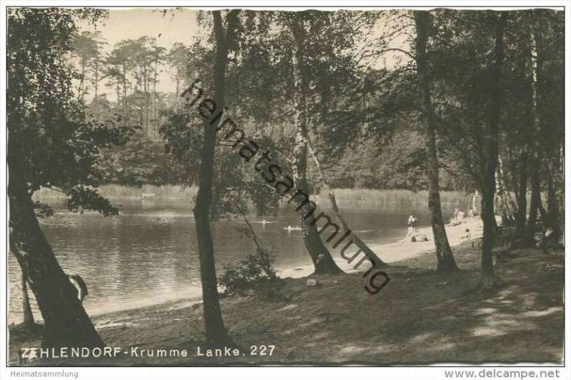 Berlin - Zehlendorf - Krumme Lanke - Foto-AK 30er Jahre