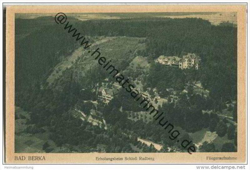 Bad Berka - Erholungsheim Schloss Rodberg - Junkers Fliegeraufnahme