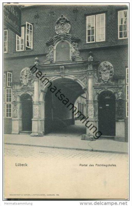 Lübeck - Portal des Füchtingshofes