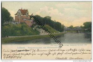 Lübeck - Navigationsschule - Mühlentorbrücke