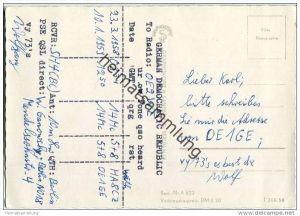 QSL - QTH - Funkkarte - DE1GE - Berlin-Mitte - Brandenburger Tor - 1959