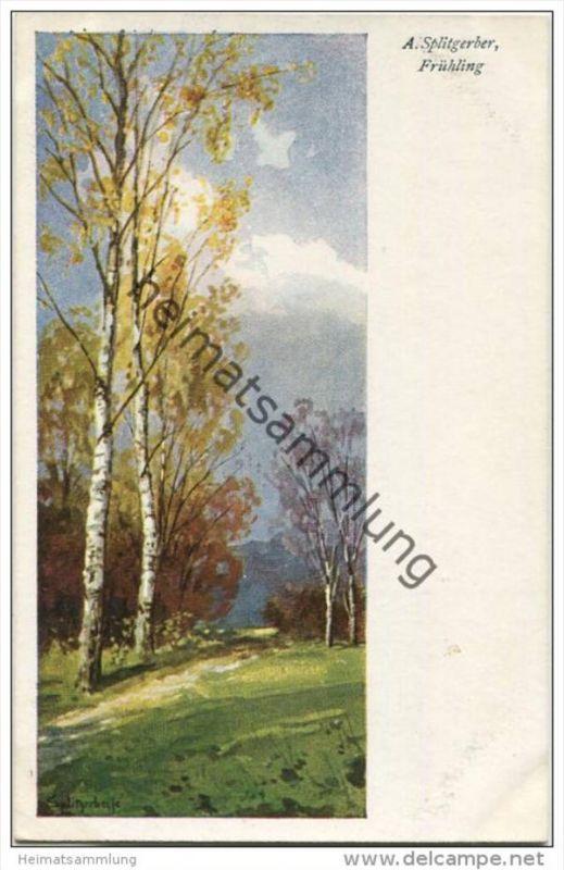Frühling - Künstlerkarte A. Splitgerber