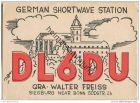 QSL - QTH - Funkkarte - DL6DU - Siegburg - 1958