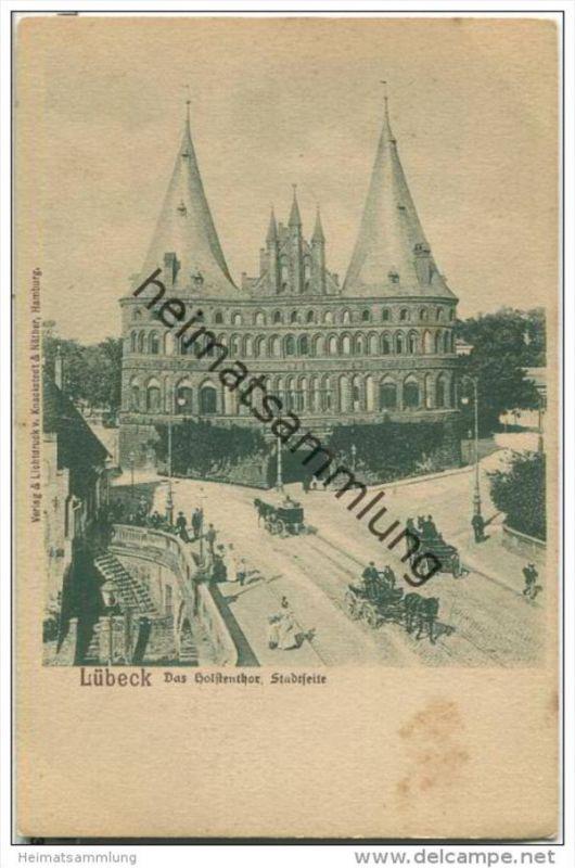 Lübeck - Holstentor Stadtseite