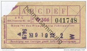 Berlin - BVG Fahrschein 1950