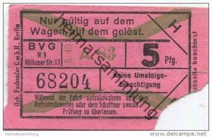 Berlin - BVG - Fahrschein 5Pfg. 1940