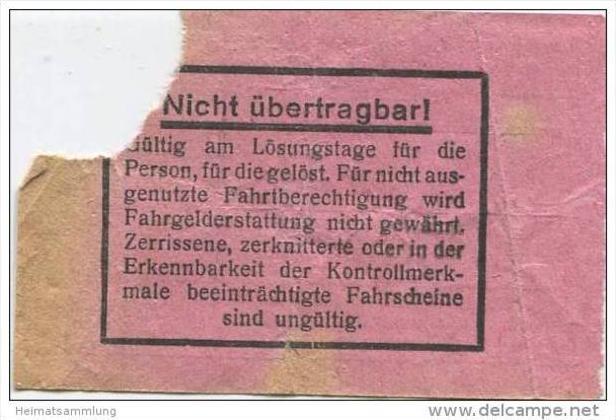 Berlin - BVG Fahrschein und Quittung über 5Pfg. 1934 1