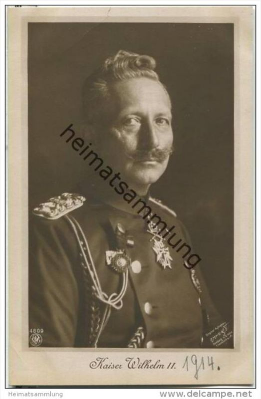 Kaiser Wilhelm II. - Foto-AK - Verlag NPG
