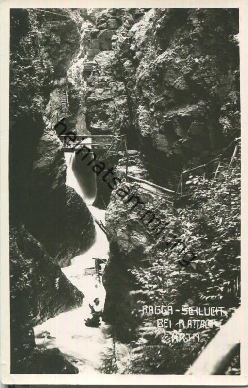 Ragga-Schlucht bei Flattach - Foto-Ansichtskarte 50er Jahre