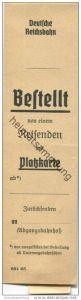 Deutschland - Reservierungsstreifen - Platzkarte - Deutsche Reichsbahn 1939