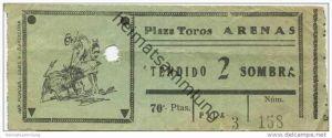 Spanien - Plaza Toros Arenas - Ticket Eintrittskarte