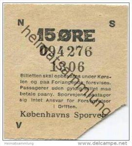 Dänemark - Kobenhavns Sporveje 15 Öre - Ticket - Fahrschein