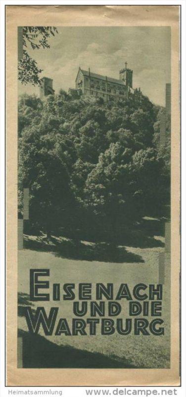 Eisenach und die Wartburg 30er Jahre - Faltblatt mit 12 Abbildungen