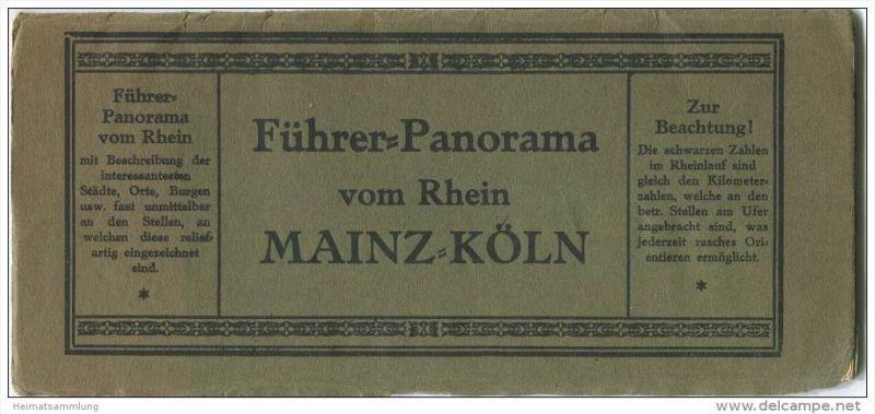 Führer-Panorama vom Rhein Mainz - Köln ca. 1910