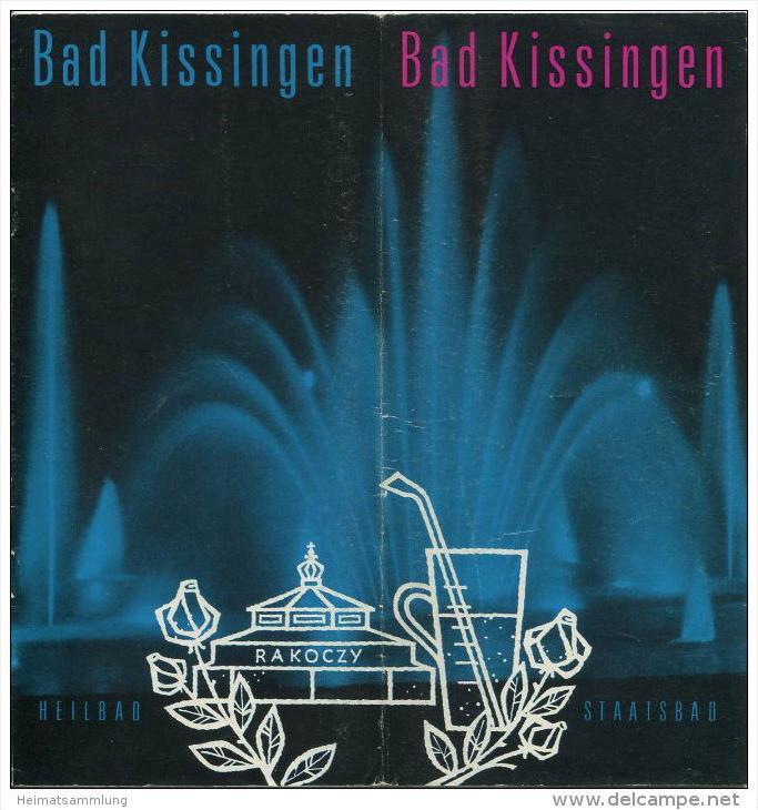 Bad Kissingen 1967 - 20 Seiten mit 40 Abbildungen - beiliegend Wissenswertes für den Gast - Wohnungsliste 48 Seiten mit
