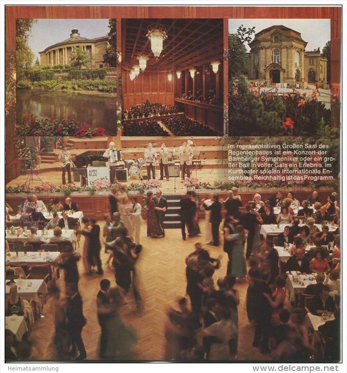 Bad Kissingen 1974 - 18 Seiten mit 27 Abbildungen - beiliegend Information Zimmernachweis 99 Seiten mit 92 Abbildungen v 1