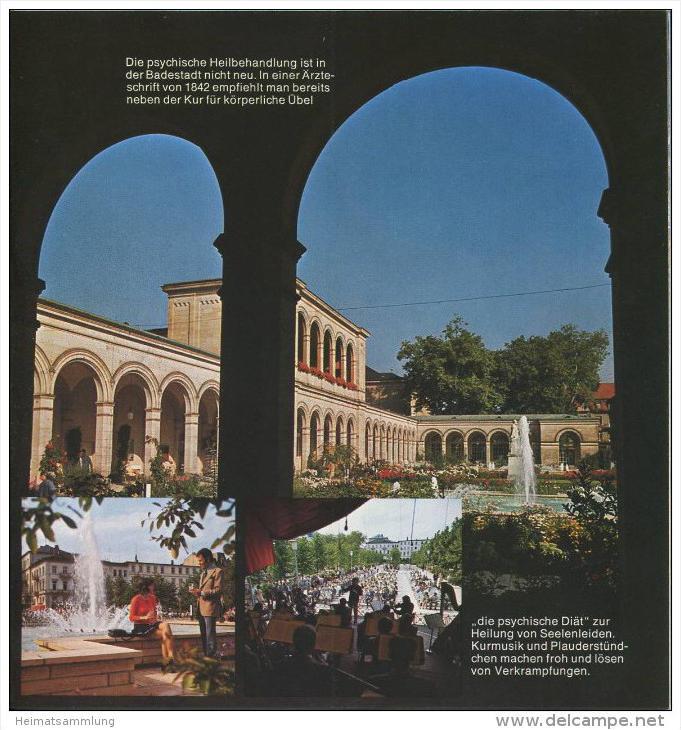 Bad Kissingen 1974 - 18 Seiten mit 27 Abbildungen - beiliegend Information Zimmernachweis 99 Seiten mit 92 Abbildungen v 2