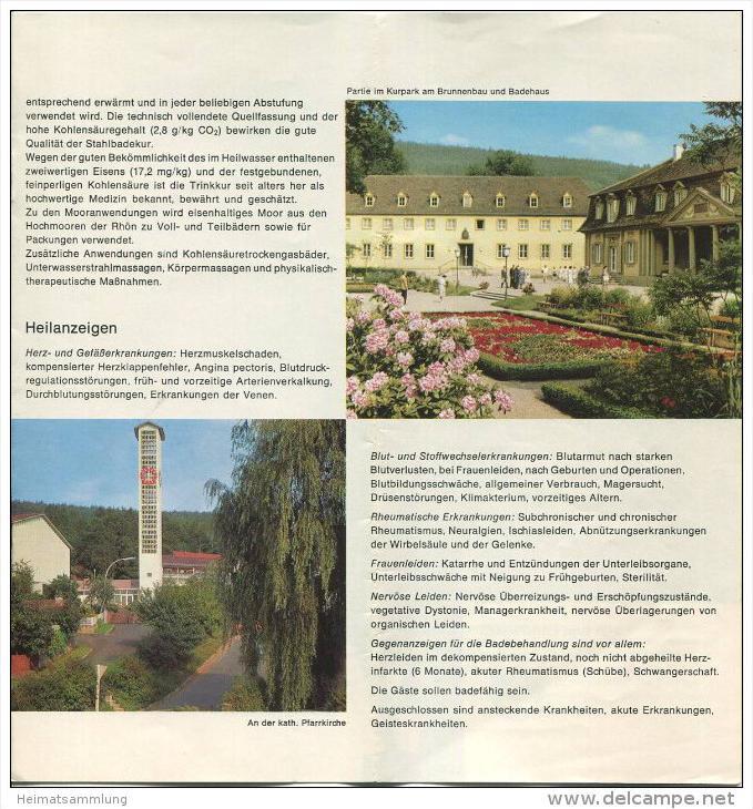 Bad Bocklet 1971 - 8 Seiten mit 10 Abbildungen - beiliegend Unterkunftsverzeichnis 16 Seiten mit 19 Abbildungen von Hote 1