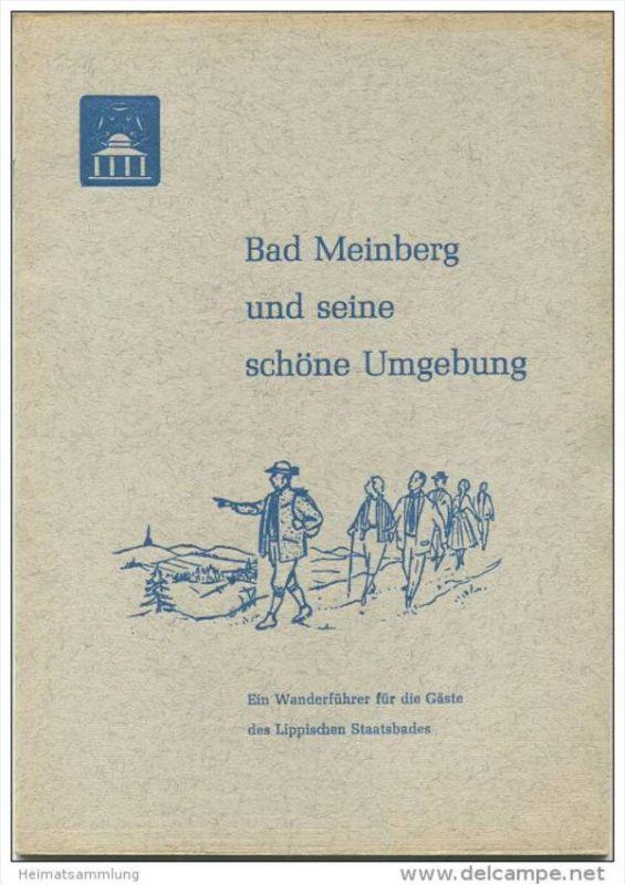 Bad Meinberg 60er Jahre - Wanderführer 24 Seiten mit Zeichnungen von Marianne Sommer Heiligenkirchen - Aufsätze der Fest