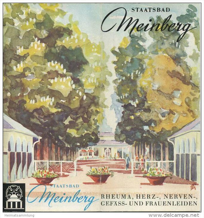 Bad Meinberg 70er Jahre - 16 Seiten mit 25 Abbildungen Gestaltung und Aquarelle Gerd Zilm Löhne - Wohnungsnachweis 1974