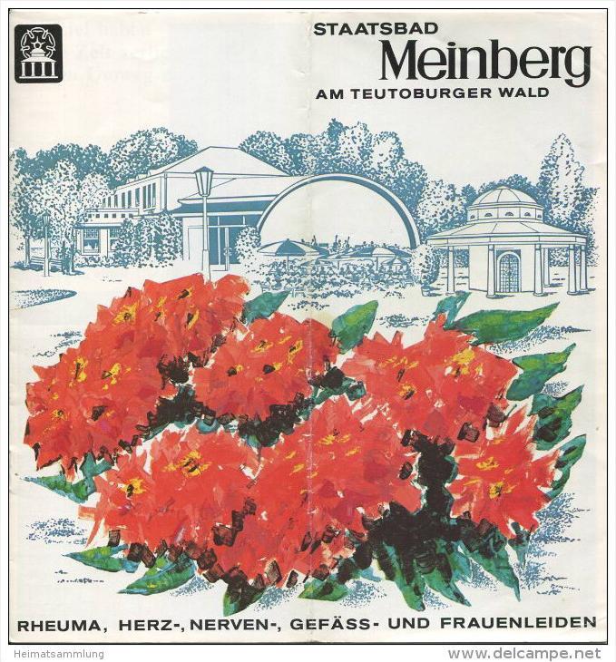 Bad Meinberg 70er Jahre - 16 Seiten 33 Abbildungen - beiliegend Wohnungsnachweis 1974 26 Seiten mit 80 Abbildungen von F