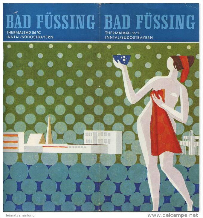 Bad Füssing 1972 - 8 Seiten mit 12 Abbildungen - Grafik Max Eppensteiner - beiliegend Verzeichnis der Gästezimmer - Orts