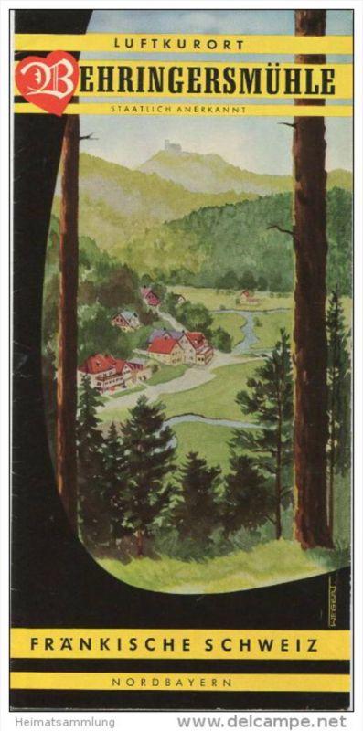 Behringersmühle 1965 - Faltblatt mit 8 Abbildungen - beiliegend Wohnungs- und Unterkunftsverzeichnis 1966/67