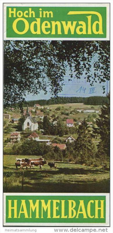 Hammelbach 1965 - Faltblatt mit 9 Abbildungen - beiliegend Unterkunftsverzeichnis