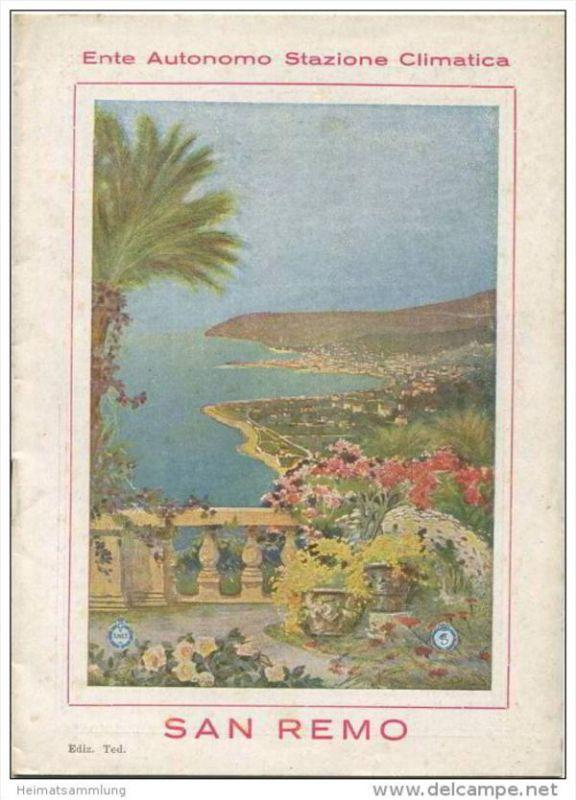 San Remo 1931 - 16 Seiten mit 26 Abbildungen
