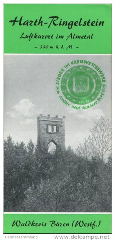 Harth-Ringelstein 70er Jahre - Faltblatt mit 7 Abbildungen