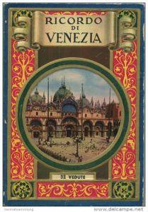 Italien - Ricordo di Venezia - 32 vedute - Leporello 17cm x 11cm 32 Fotografien rückseitig mit Text und einem Stadtplan