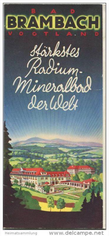Bad Brambach 1935 - 20 Seiten mit 41 Abbildungen - beiliegend Kurmittelpreise