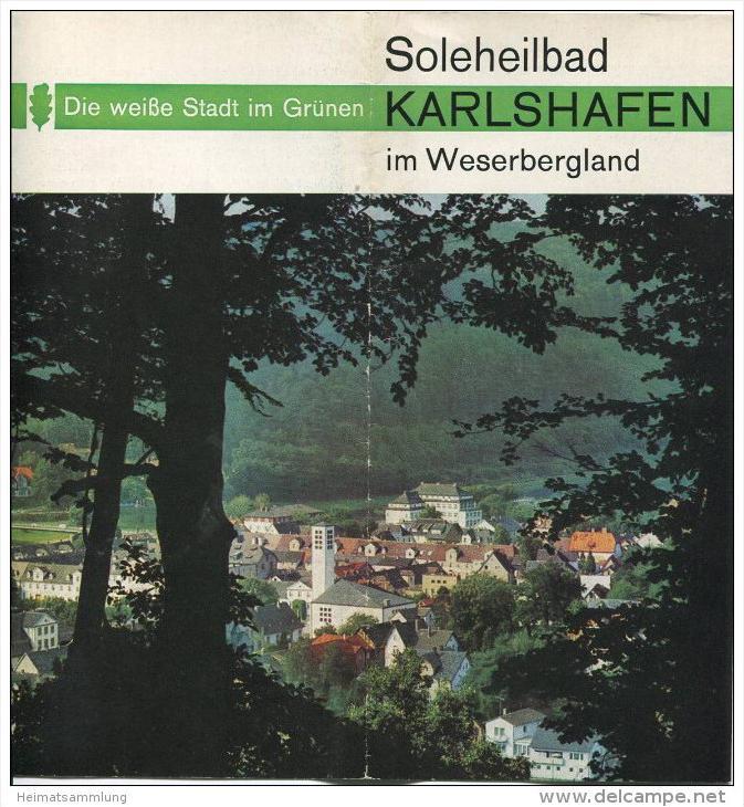Soleheilbad Karlshafen 1972 - 8 Seiten mit 22 Abbildungen - beiliegend Schlüssel zum Heilbad Karlshafen 28 Seiten mit 50