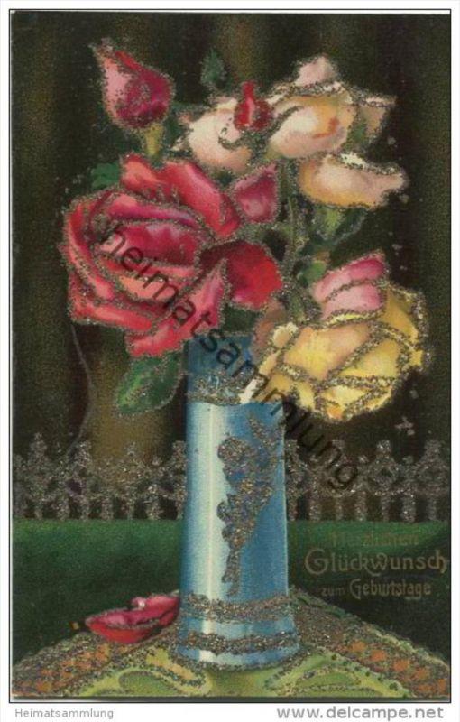 Geburtstag Rosen Glimmer Nr 600157093 Oldthing Gluckwunsch
